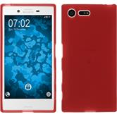 Silicone Case for Sony Xperia X Compact matt red