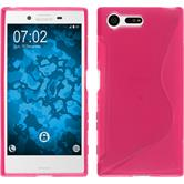Silicone Case for Sony Xperia X Compact S-Style hot pink