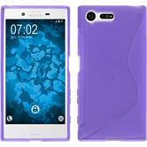Silicone Case for Sony Xperia X Compact S-Style purple