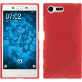 Silicone Case for Sony Xperia X Compact S-Style red