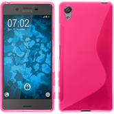 Silicone Case for Sony Xperia X S-Style hot pink