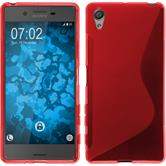 Silicone Case for Sony Xperia X S-Style red