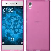 Silicone Case Xperia XA1 matt hot pink + protective foils