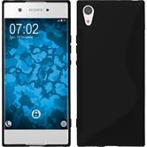 Silicone Case Xperia XA1 S-Style black + protective foils