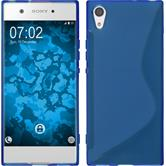 Silicone Case Xperia XA1 S-Style blue + protective foils
