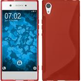 Silicone Case Xperia XA1 S-Style red + protective foils