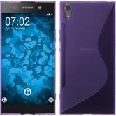 Silicone Case Xperia XA1 Ultra S-Style purple + protective foils