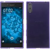 Silicone Case for Sony Xperia XZ transparent purple