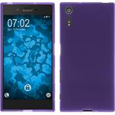 Silicone Case for Sony Xperia XZ matt purple