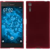 Silicone Case for Sony Xperia XZ matt red