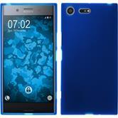 Silicone Case Xperia XZ Premium matt blue + protective foils