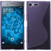 Silicone Case Xperia XZ Premium S-Style purple + protective foils