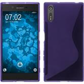 Silicone Case for Sony Xperia XZ S-Style purple