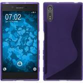Silicone Case Xperia XZs S-Style purple + protective foils