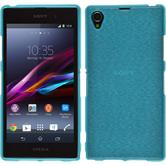 Silicone Case for Sony Xperia Z1 brushed blue