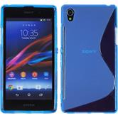 Silicone Case for Sony Xperia Z1 S-Style blue