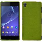 Silicone Case for Sony Xperia Z3 brushed pastel green