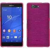 Silicone Case for Sony Xperia Z3 Compact brushed pink