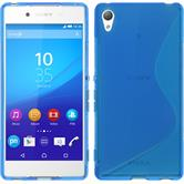 Silicone Case for Sony Xperia Z3+ S-Style blue