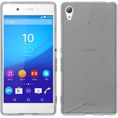 Silicone Case for Sony Xperia Z3+ S-Style gray