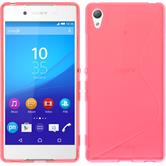 Silicone Case for Sony Xperia Z3+ S-Style hot pink