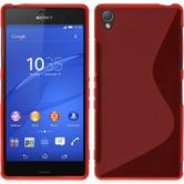 Silicone Case for Sony Xperia Z3 S-Style red