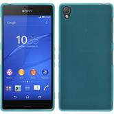 Silicone Case for Sony Xperia Z3 transparent turquoise
