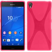 Silicone Case for Sony Xperia Z3 X-Style hot pink