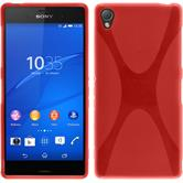 Silicone Case for Sony Xperia Z3 X-Style red