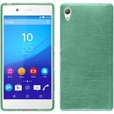 Silicone Case for Sony Xperia Z3+ brushed green