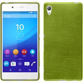 Silicone Case for Sony Xperia Z3+ brushed pastel green
