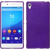 Silicone Case for Sony Xperia Z3+ brushed purple