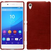 Silicone Case for Sony Xperia Z3+ brushed red