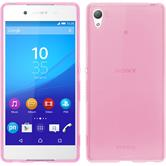 Silicone Case for Sony Xperia Z3+ transparent pink