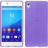 Silicone Case for Sony Xperia Z3+ transparent purple