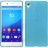 Silicone Case for Sony Xperia Z3+ transparent turquoise