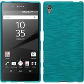 Silicone Case for Sony Xperia Z5 brushed blue