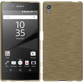Silicone Case for Sony Xperia Z5 brushed gold