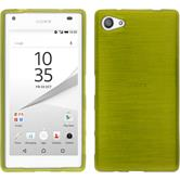 Silicone Case for Sony Xperia Z5 compact brushed pastel green