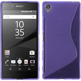 Silicone Case for Sony Xperia Z5 Premium S-Style purple
