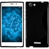 Silicone Case for Wiko Ridge Fab 4G S-Style black