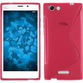 Silicone Case for Wiko Ridge Fab 4G S-Style hot pink