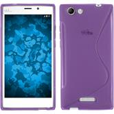 Silicone Case for Wiko Ridge Fab 4G S-Style purple