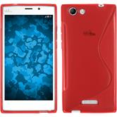 Silicone Case for Wiko Ridge Fab 4G S-Style red