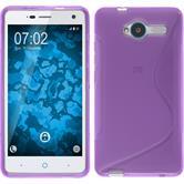 Silicone Case for ZTE Blade L3 S-Style purple