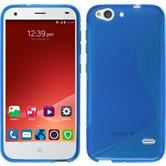 Silicone Case for ZTE Blade S6 Plus S-Style blue