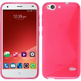 Silicone Case for ZTE Blade S6 Plus S-Style hot pink