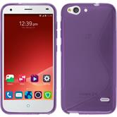 Silicone Case for ZTE Blade S6 Plus S-Style purple