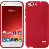 Silicone Case for ZTE Blade S6 S-Style red