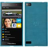 Silikonhülle für BlackBerry Z3 brushed blau